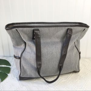 Thirty-One Cindy Tote Brown Two Tone Weave Brown